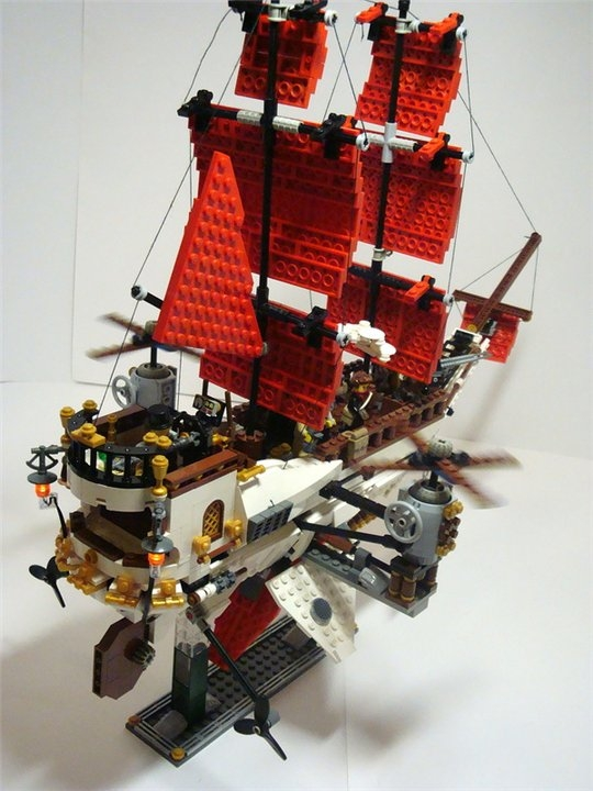 LEGO MOC - Steampunk Machine - «Алые паруса» в стиле Steampunk.: Огни.
