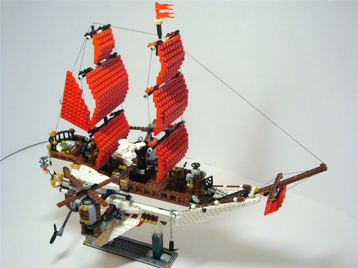 LEGO MOC - Steampunk Machine - «Алые паруса» в стиле Steampunk.