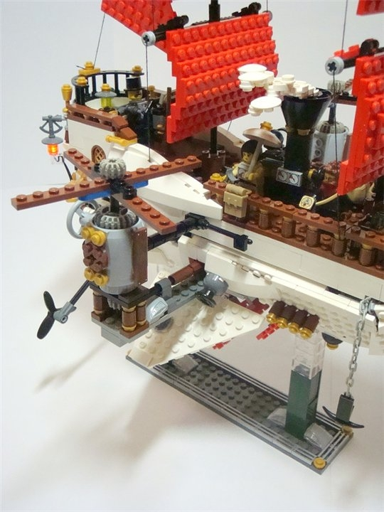 LEGO MOC - Steampunk Machine - «Алые паруса» в стиле Steampunk.: Винты