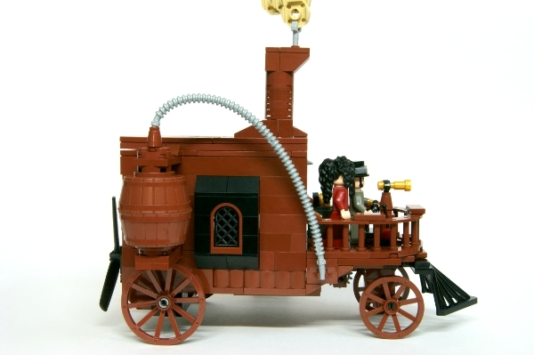 LEGO MOC - Steampunk Machine - Самоходная карета.