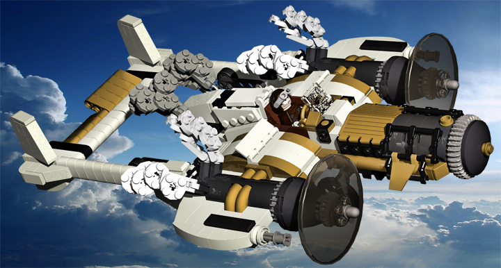 LEGO MOC - Steampunk Machine - Паровой летун