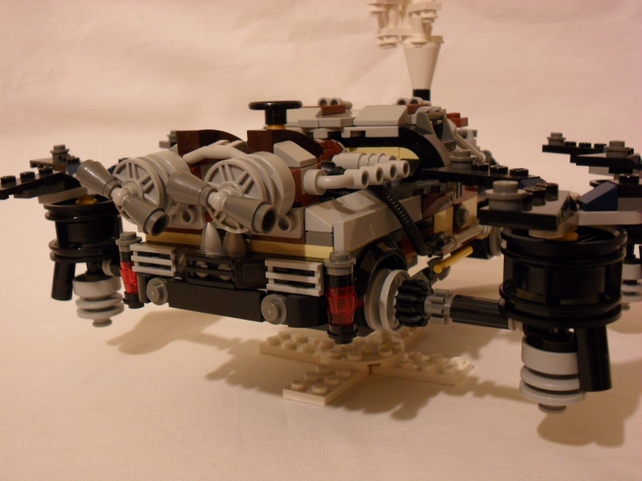 LEGO MOC - Steampunk Machine - DeLorean STEAM Machine: Поближе задний бампер.