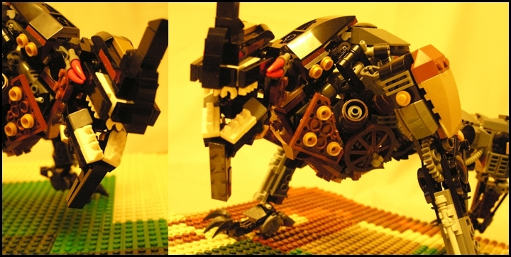 LEGO MOC - Steampunk Machine - Warning! Охотники!: ХРРРРРРР!!!