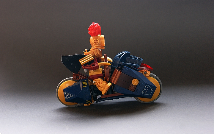 LEGO MOC - Мини-конкурс 'Lego Technic Motorcycles' - 'Вспышка' Джона Сильвера II
