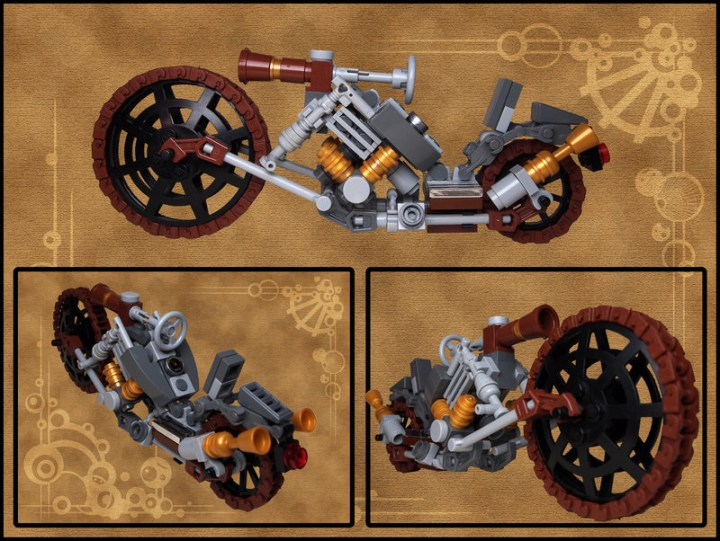 LEGO MOC - Мини-конкурс 'Lego Technic Motorcycles' - Steam Choppa