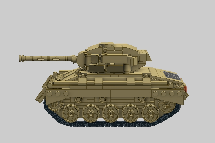 LEGO MOC - Конкурс LDD 'Военная техника XX-го века' - Light Tank M24 'Chaffee'