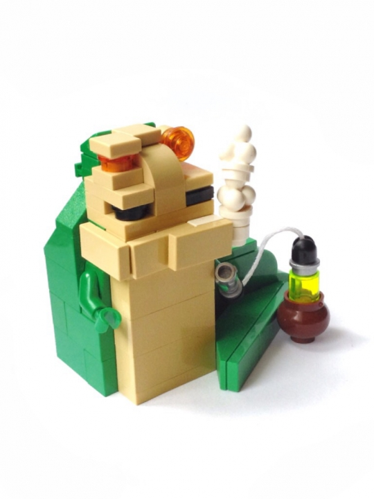 LEGO MOC - Битва Мастеров 'В кубе' - Jabba the Hutt. Star wars episode VI. Return of the Jedi : Джабба Хатт