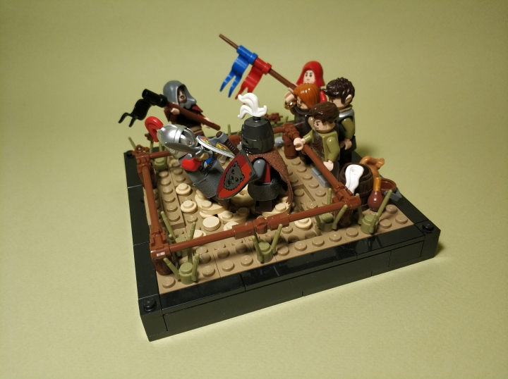 LEGO MOC - 16x16: Поединок - The duel of two masters: (1)