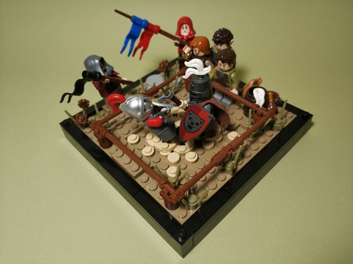LEGO MOC - 16x16: Поединок - The duel of two masters: (2)