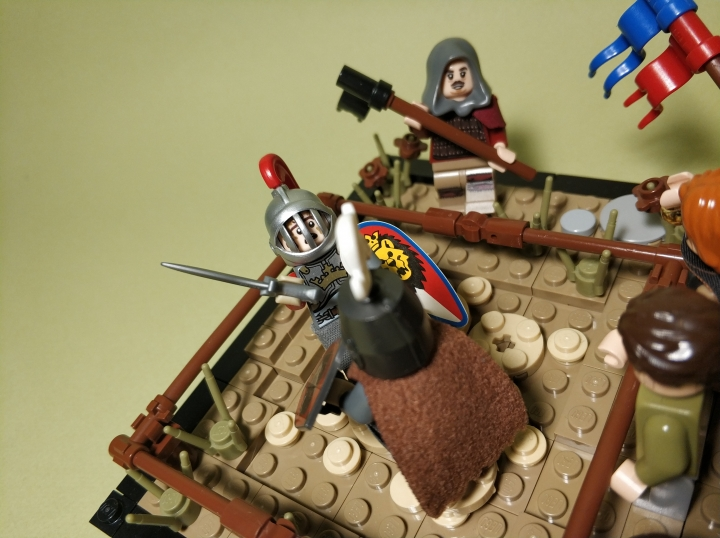 LEGO MOC - 16x16: Поединок - The duel of two masters: (3)