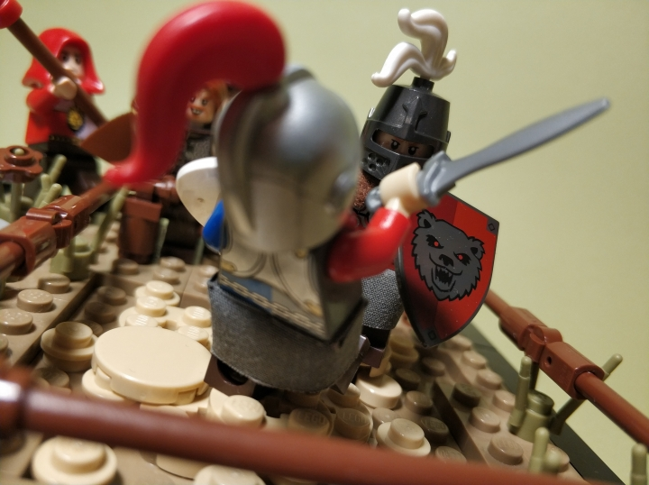 LEGO MOC - 16x16: Поединок - The duel of two masters: (4)
