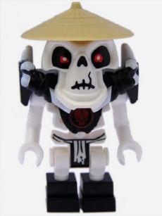 ARMOR Lego Shoulder Breastplate// White Spikes// Skull Pattern NEW Wyplash Ninjago