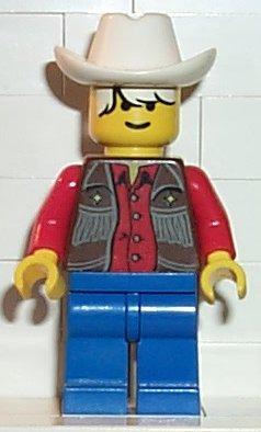 Headgear Hat Minifig LEGO Red Cowboy Hat