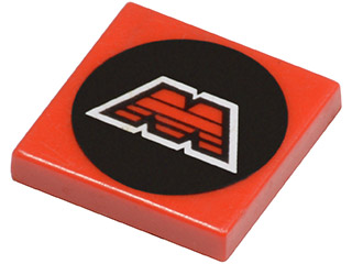 1x Tile Decorated 2x2 M:Tron Logo Pattern 3068p68 Lego