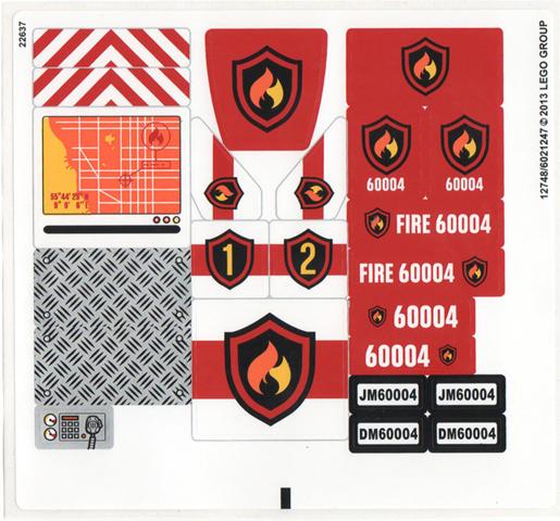 Bricker - Конструктор LEGO 60004 Пожарная Часть (Fire Station)