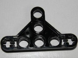 LEGO Technic 6 x Liftarm Bracket Axle Connector 7H Bow Shape BLACK