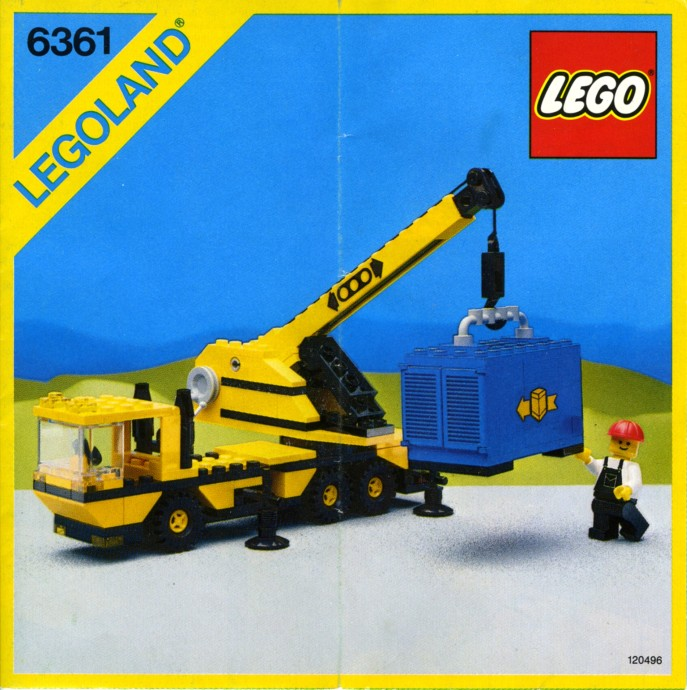lego mobile tower crane instructions