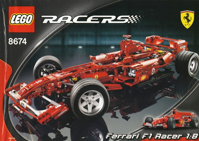 bricker lego 8674 ferrari f1 racer 1 8. Black Bedroom Furniture Sets. Home Design Ideas
